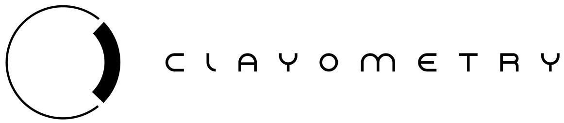 clayometry design logo black on white
