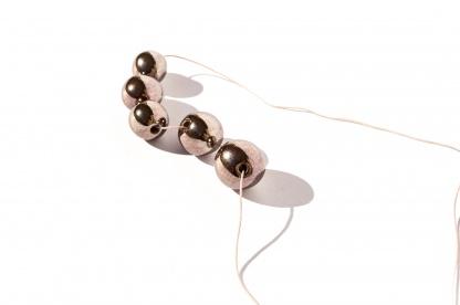 shiny ceramic beads necklace bubble play clayometry