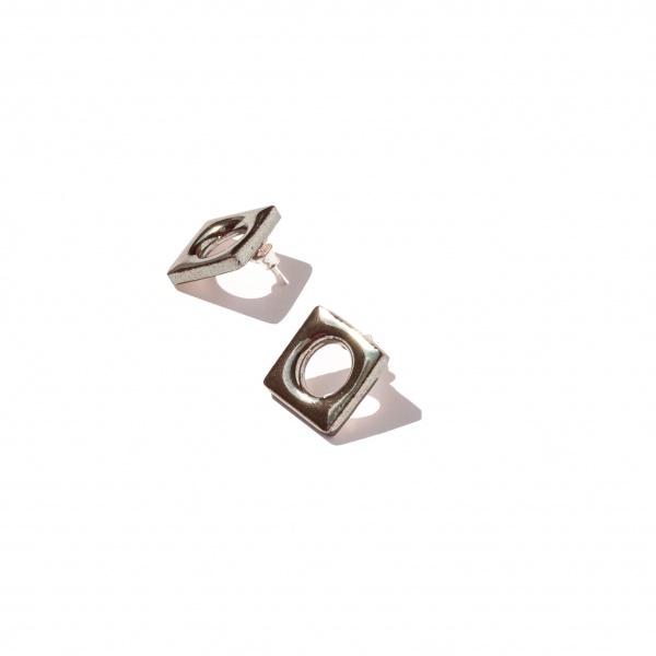modern and minimalist earrings modern large clayometry