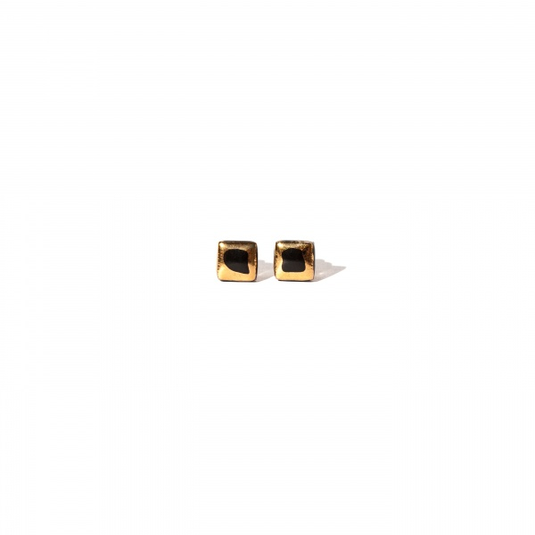 glossy earrings with gold glossy boxes clayometry