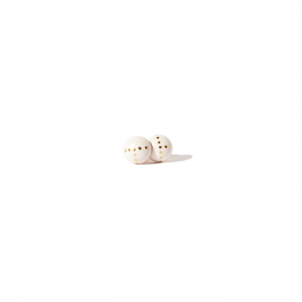 earrings with gold dots dot dance clayometry