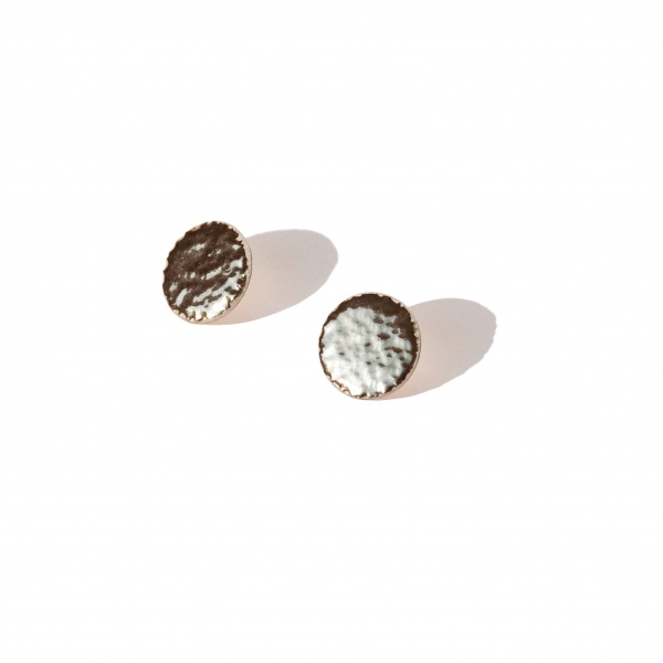big textured circle earrings rocky large clayometry