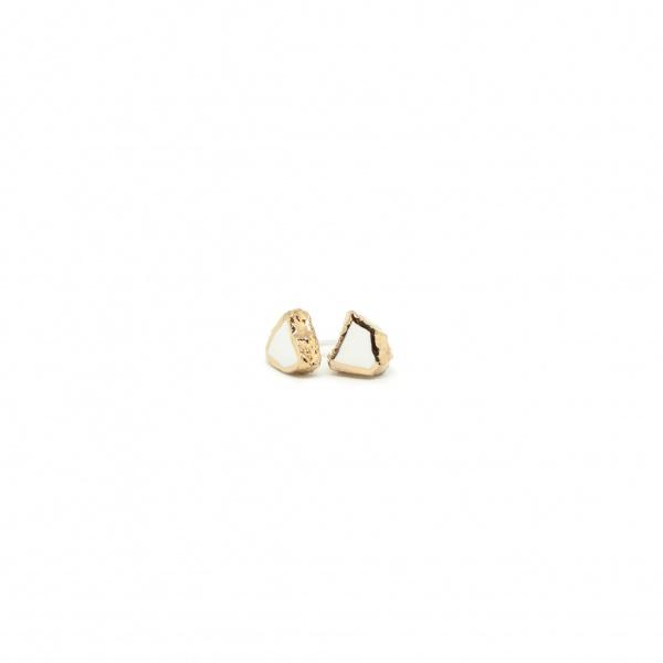 minimalist bridal earrings smithereens small clayometry