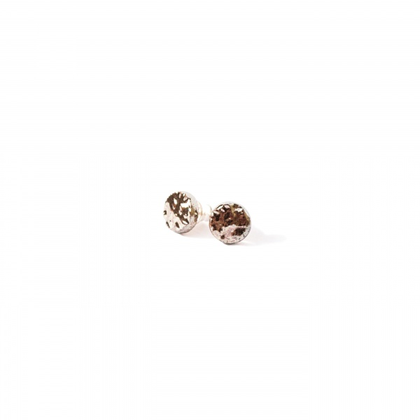 textured surface handmade earrings rocky extra small clayometry
