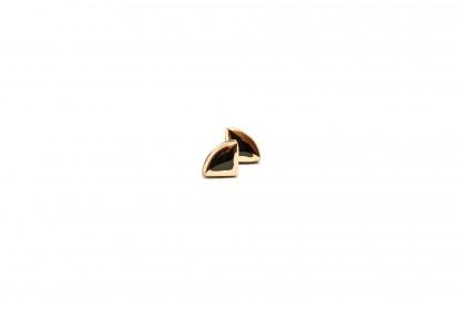 keraminiai auskarai su auksu sail clayometry