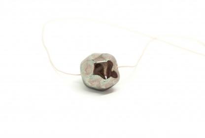 minimalist ceramic ball necklace meteorite clayometry