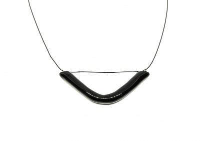 minimalistinis ilgas keraminis kaklo papuosalas smile clayometry