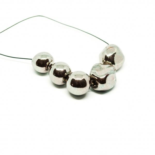 organic shape necklace both clayometry