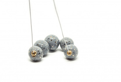 terrazzo necklace with gold terrazzo bubbles gold clayometry