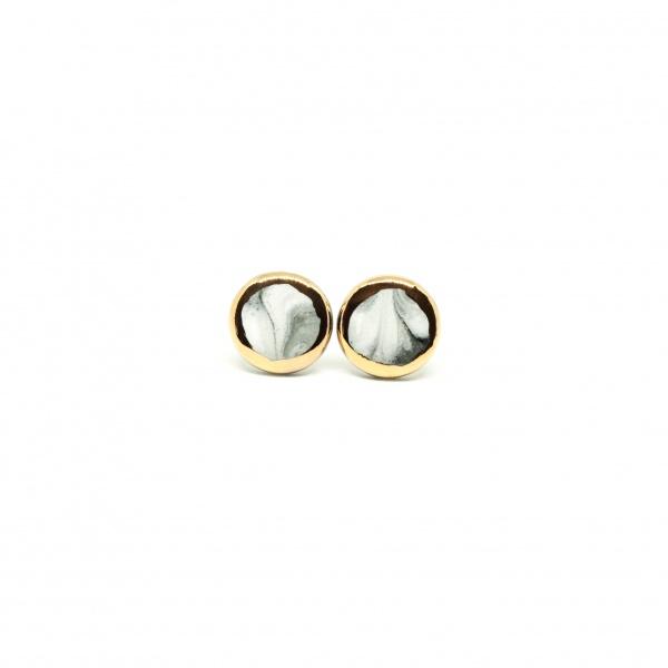 ceramic marble earrings marble w&g clayometry